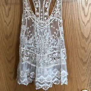 Pins and Needles Lace Razor Back Top Size XS